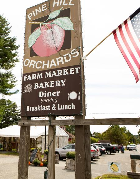 Pine Hill Orchards Sign